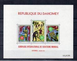 BENIN - DAHOMEY - 1972 - Foglietto Seminario Internazionale Dello Scoutismo Mondiale - 3 Valori - Nuovo ** - (FDC19775) - Benin – Dahomey (1960-...)