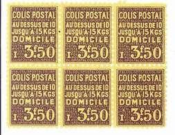 FRANCE - Colis Postal Bloc De 6 Timbres De 3F50 - Y&T N° 166 Sans Gomme - Neufs