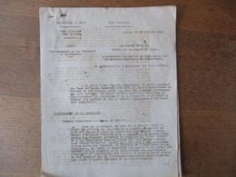 ETAT FRANCAIS LILLE LE 30 JUILLET 1943 LE PREFET DARROUY OBJET RATIONNEMENT DE LA CHAUSSURE ET DU TEXTILE 5 PAGES - Historische Documenten
