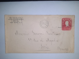 USA  /  Entier  Postal  2 Cents Rose  /  Cachet  SMITH & KAUFMANN à NEW YORK ( 1907 ) - Postal Stationery
