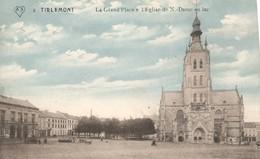 PK, Tirlemont - Tienen, La Grande Place Et L'Eglise N. Dame Au Lac, Ongebruikt - Tienen