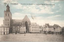 PK, Tirlemont - Tienen, La Place Du Marché Au Bétail Et L'Eglise Saint-Germain, Ongebruikt - Tienen