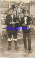 129015 SPAIN ESPAÑA GALICIA COSTUMES NATIVE MAN'S WITH MUSICAL INSTRUMENT POSTAL POSTCARD - Sin Clasificación