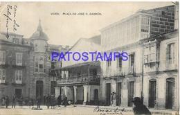 129028 SPAIN ESPAÑA VERIN ORENSE PLAZA DE JOSE G. BARBON POSTAL POSTCARD - Spain