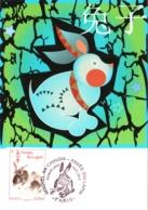 Carte Maximum YT 4531 L'année Du Lapin, Horoscope Chinois, 1er Jour 14 01 2011 Paris 75 Parfait état, Nouvel An Chinois - Cartoline Maximum