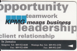 JAMAICA(GPT) - KPMG Means Business, CN : 22JAMA, Tirage 4900, Used - Jamaica