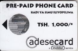 TANZANIA - Simu Poa, MIC Tanzania Magnetic Telecard, First Issue 1000/-, Used - Tanzania