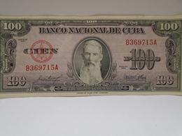 Cuba, $100 Pesos 1954, AUNC, Crisp, How You Can See. - Cuba
