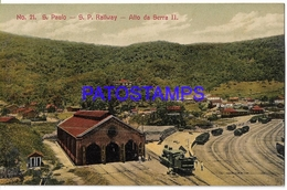 129061 BRAZIL BRASIL SAO PAULO ALTO DA SERRA II STATION TRAIN POSTAL POSTCARD - Non Classificati