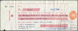 LION Kenya 1966 Impressed Revenue 30c Stamped Bill Of Exchanfe Fiscal Tax Löwe Wechsel Stempelmarke Sudan Rhinoceros - Bills Of Exchange