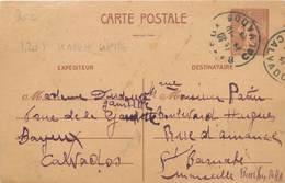 MARCOPHILIE ENTIER POSTAL Sur CPA / 1.20F Semeuse Lignée - Postal Stamped Stationery