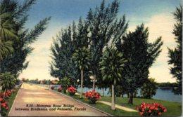 Florida Bradenton Manatee River Bridge 1949 - Bradenton