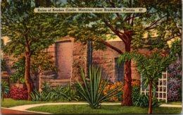 Florida Bradenton Ruins Of Braden Castle 1939 - Bradenton