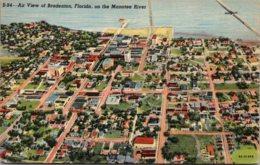 Florida Bradenton Aerial View 1947 Curteich - Bradenton