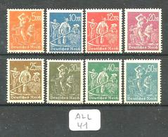 ALL Mi 238/245 YT 176/177/179/180/239/240/241/242 En XX - Unused Stamps