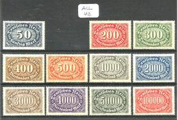 ALL Mi 246+248/257 YT 181+183/192 En XX - Unused Stamps