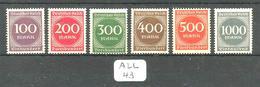 ALL Mi 268/273 YT 243/248 En XX - Unused Stamps