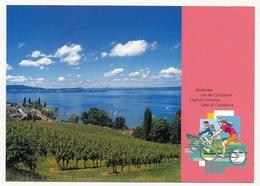 SUISSE - 4 Cartes Postales (Entiers) - Lac Léman / Lac De Constance - Neuves Et Oblitérées Premier Jour. - Interi Postali