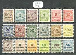 ALL Mi 313A/330A YT 294/305 + 320/325 En XX Qcq Imperf De Gomme - Unused Stamps