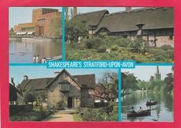 Modern Multi View Post Card Of Shakespeare`s Stratford Upon Avon,Warwickshire,England,P31. - Stratford Upon Avon