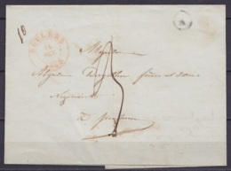 "L. Datée 14 Octobre 1848 De HOOGLEDE Càd ROULERS /14 OCT 1848 Pour ISEGHEM - Boîte ""R"" (au Dos Càd ISEGHEM) - 1830-1849 (Belgica Independiente)"