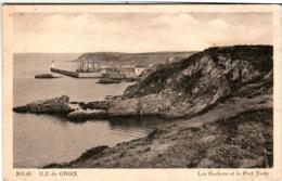 61lps 1428 CPA - ILE DE CROIX - LES ROCHERS ET LE PORT TUDY - France