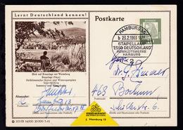 """HAMBURG 36 2 B STAPELLAUF """"ESSO DEUTSCHLAND"""" HOWALDTSWERKE HAMBURG 23.2.1963 - Non Classés"""