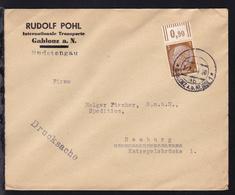 GABLONZ A.D. NEISSE 1 4b 3.XII.38 Auf Firmendrucksache (Rudolf Pohl  - Occupation 1938-45