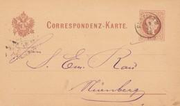 1878: Ganzsache Von Puntigam Nach Nürnberg - Covers & Documents