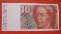 SUISSE 10 FRANCS L. EULER. UNCIRCULATED. BANKNOTE SWITZERLAND. - Suiza
