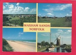 Modern Multi View Post Card Of Waxham Sands,Norfolk,England,P32. - Inglaterra