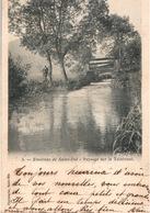 Environs De St Saint-Dié - Paysage Sur Le Taintroué, Pêcheur - Edition Christophe - Carte N° 5 Dos Simple - Saint Die
