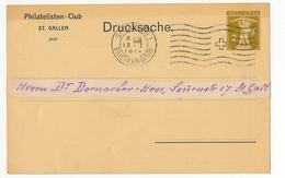 SUISSE - Carte Postale (Entier) - Philatelisten-Club St Gallen - Drucksache - 1913 - Entiers Postaux