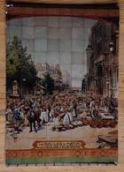 Paris - Bistrots Et Leurs Céramiques Murales - Les Halles Le Matin Devant L'Eglise Saint-Eustache - (n°17148) - Bar, Alberghi, Ristoranti