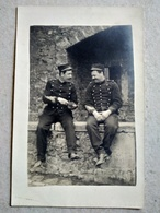 CARTE PHOTO  Artilleurs Recevant Du Courrier - CP ÉCRITE EN OCCITAN - TBE - Guerre 1914-18