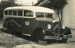 RPCP : PENESTIN, AUTOCARS DE PENESTIN SUR MER , AUTOBUS CITROEN T 45, Photo Of Old Postcard, 2 Scans - Cars