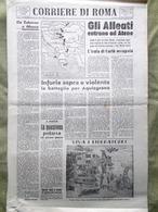 Corriere Di Roma Del 15 Ottobre 1944 WW2 Occupazione Corfù Eisenhower Aquisgrana - Weltkrieg 1939-45