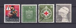 BRD - 1953 - Michel Nr. 162/165 - Gest. - 46 Euro - BRD