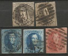 Belgique - Médaillons - Oblitérations P21 BOUSSU - Postmarks - Lines: Perceptions