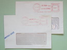 Alimentazione, Alivar, Alimont (Azienda Alimentare Gruppo Montedison) Chiusa Nel 1990, 160 E 100 (DZ) Frammenti - Affrancature Meccaniche Rosse (EMA)
