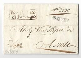 PERIODO NAPOLEONICO - DA FABRIANO AD ASCOLI - 6.1.1809 - Italia