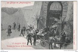 MONTECASSINO (FR):  UN  SALUTO  DA ... -  5  MAGGIO  1903  -  PARTENZA  DEI  SOVRANI  DA  MONTECASSINO  -  FP - Case Reali