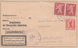 Allemagne Berlin Lettre Berlin-Schöneberg Thème Ours 1946 - Non Classificati