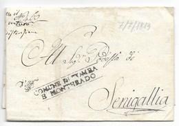 PERIODO NAPOLEONICO - DA TOMBA A SENIGALLIA - 7.7.1813. - Italia