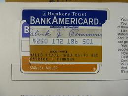 USA - Credit Card - Bank Americard - Bankers Trust - Exp 08/73 - In Folder With Original Paperwork - R - Tarjetas De Crédito (caducidad Min 10 Años)