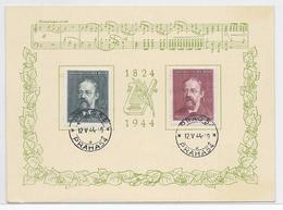 Dt- Reich WK II Böhmen Und Mähren (002713) Gedenkblatt SB 136b/I Ausgabe Bedfich Smetana 2.3.1824- 12.5.1884 - Bohemia & Moravia
