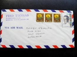 Cover Sent From Japan To Lithuania 1996 Siebold - Covers & Documents
