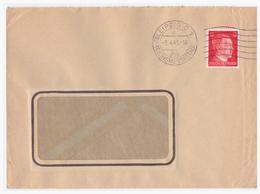 DR- Reich (002714) Firmenbeleg Mit Propagandastempel (Leipzig C1, Reichsmessestadt Sehr Spätes Datum 5.4.1945!!) - Germania