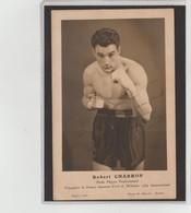 .BOXING.BOKSEN. PHOTO. MUSCAT.  BOXEUR   ROBERT CHARRON  POIDS MOYEN  CHAMPION DE FRANCE 1939 - Boxing