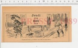 2 Scans Humour De 1889 Boisson Amer Picon Parapluie Chien Pluie Artillerie Canons Boulets De Canon 198PF44 - Vieux Papiers